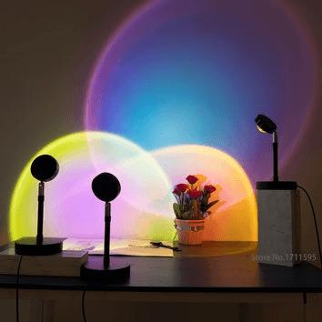 Kolorowa dekoracja świetlna