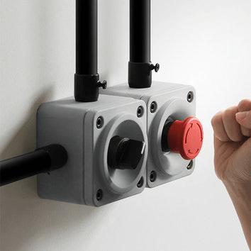 Włącznik światła w stylu industrialnym